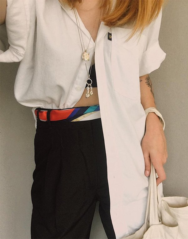 Ali Santos  - camisa-branca-calca-jeans - camisa - meia estação - street style