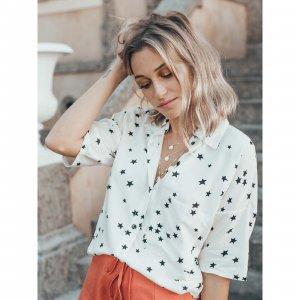 Camisa Stella Tamanho: G - Cor: Preto E Branco