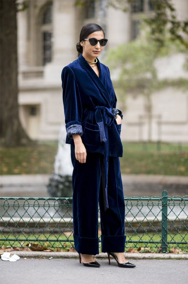 it girl - conjunto-blazer-veludo-calça-veludo - veludo - inverno - street style