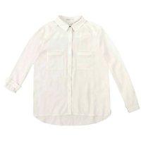 Camisa Mullet Em Tecido Georgete Duplo De Viscose