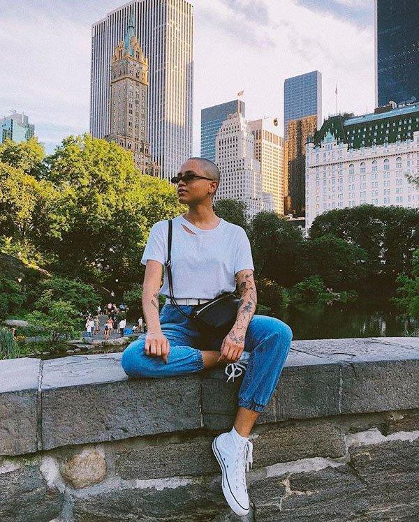 Cris Paladino - t-shirt-branca-calca-all-star - t-shirt branca - verão - street style