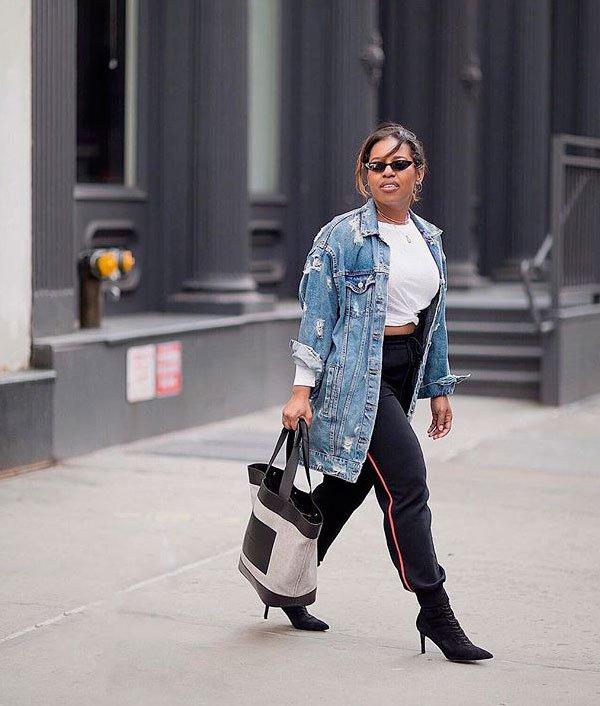 Crystal Alexis - t-shirt-branca-calca-jogger - t-shirt - verão - street style