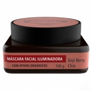 Máscara Facial Iluminadora Goji E Chia Delifresh Organics