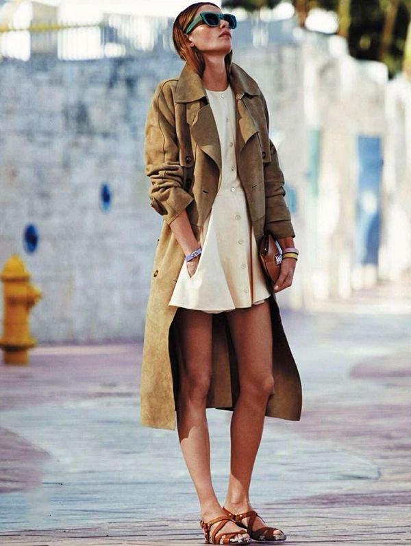 it-girl - it-girl-vestido-flat-trench-coat - trench-coat - verão - street style