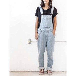 Macacão Oversized Jeans Tamanho: P - Cor: Azul