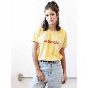 Camiseta No Small Plans Tamanho: M - Cor: Amarelo