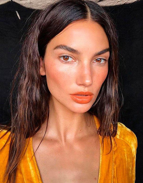 Lily Aldridge - maquiagem-verao-fresh - maquiagem fresh - verão - estúdio