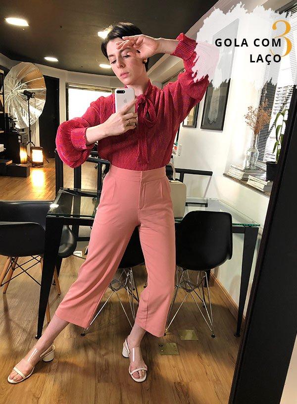 Gabriela Bonomi - blusa-calça - calça rosa - inverno - street style