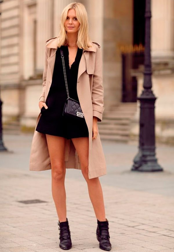 it-girl - macacao-trench-coat-bota-look - trench-coat - verão - street style