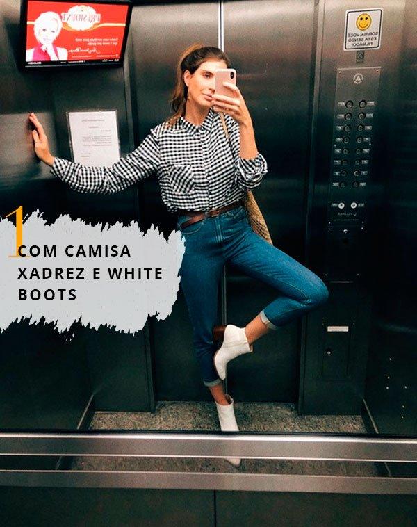 Manuela Bordasch - look-mom-jeans-camisa-xadrez - mom jeans - meia estação - elevador