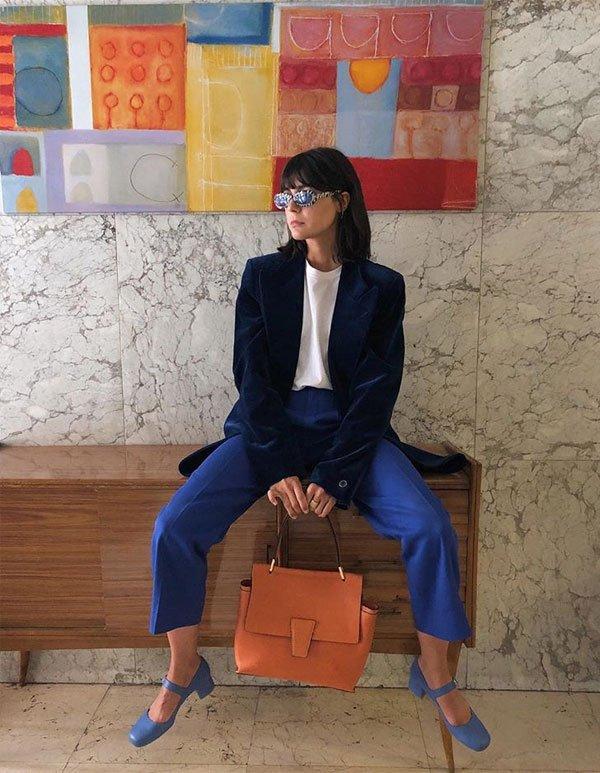 Maria Bernad - blazer-azul - blazer - inverno - street style