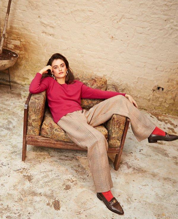 Mariana Adjuto - calca-meia-sapato-blusa - blusa - verão - street style