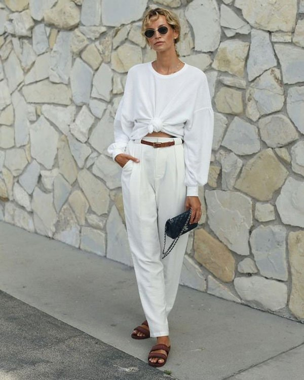 it-girl - moletom-branco-calça-alfaiataria - moletom - inverno - street style