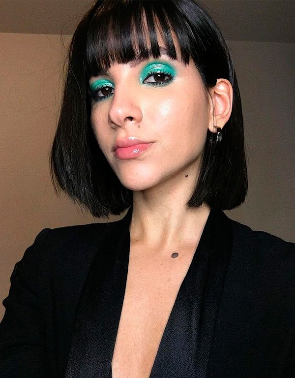 Nathalie Billio - maquiagem-azul-sombra - maquiagem colorida - verão - estúdio