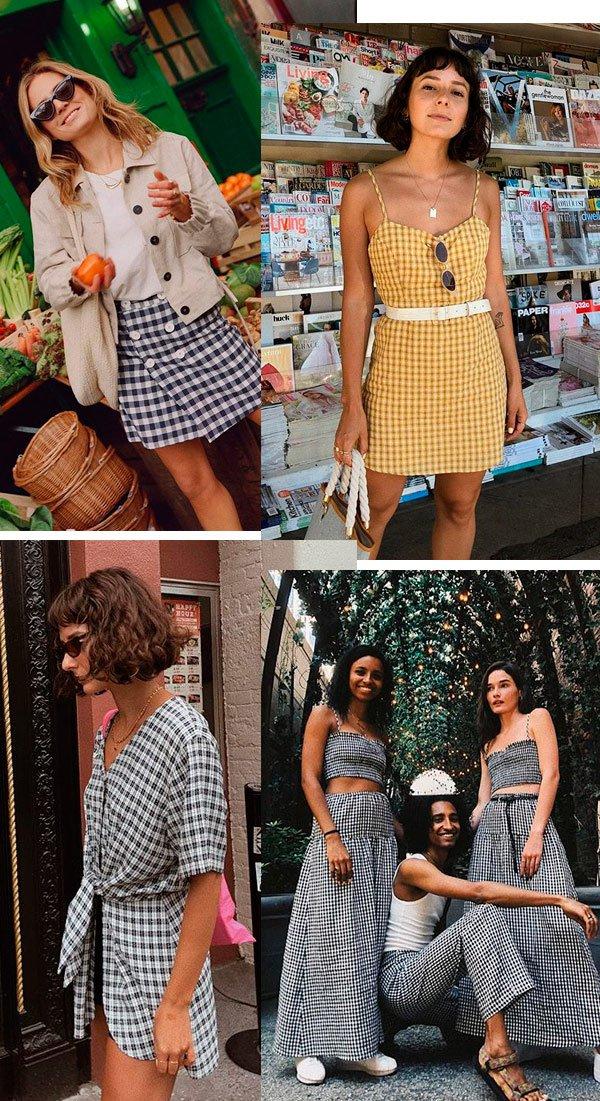 it girls - outfits-vichy-look-street- - vichy - verão - street style