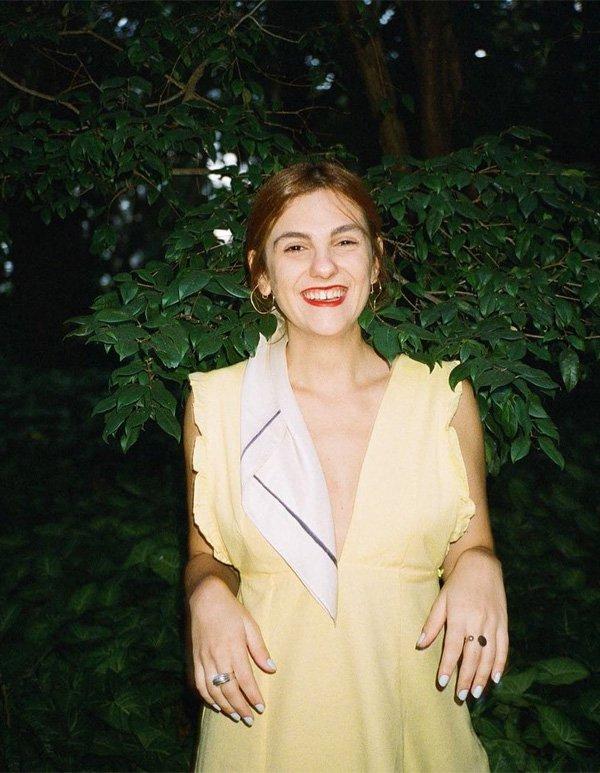 Patricia Giufrida - vestido-amarelo-lenço - lenço - verão - street style