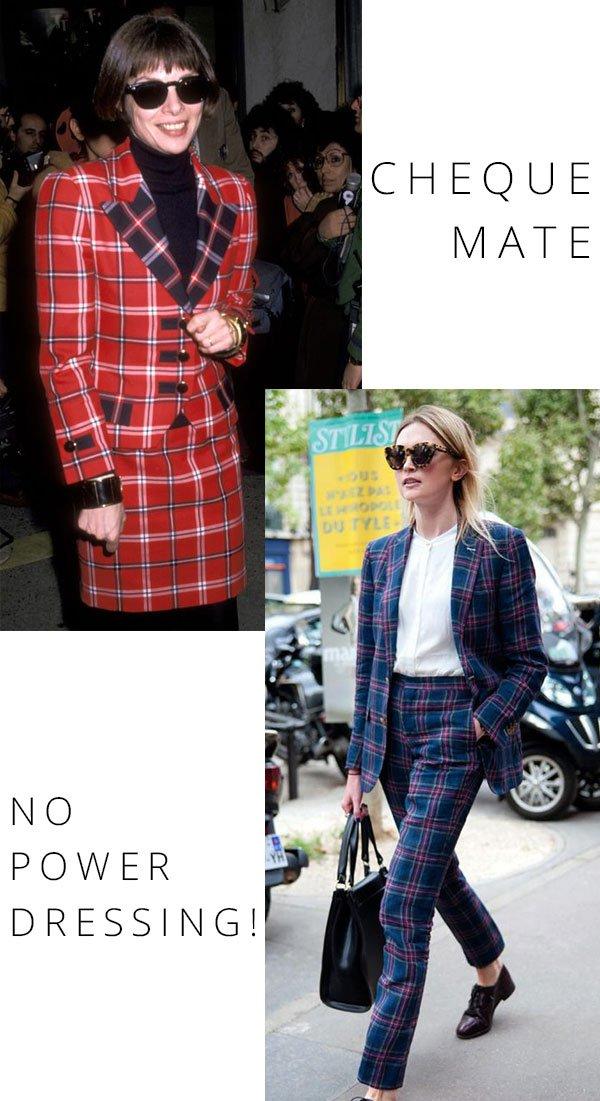 Anna Wintour - xadrez - xadrez - inverno - street style