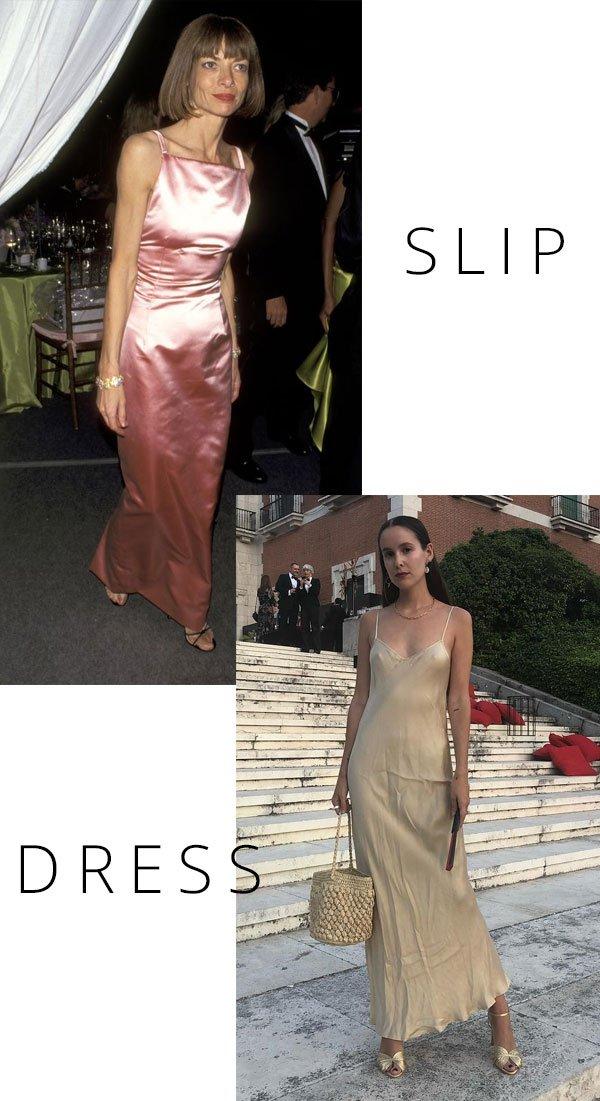 Anna Wintour - slipdress - slip dress - inverno - street style
