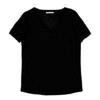 Blusa Feminina Básica Em Tecido De Viscose Com Gola V