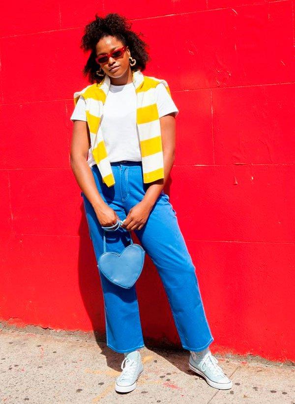it-girl - t-shirt-branca-calca-jeans-tenis-all-star - tshirt - verão - street style