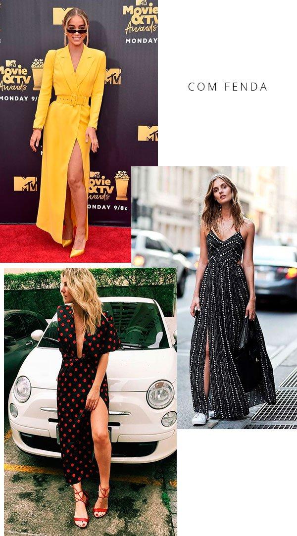 vestido - fenda - look - moda - trendy