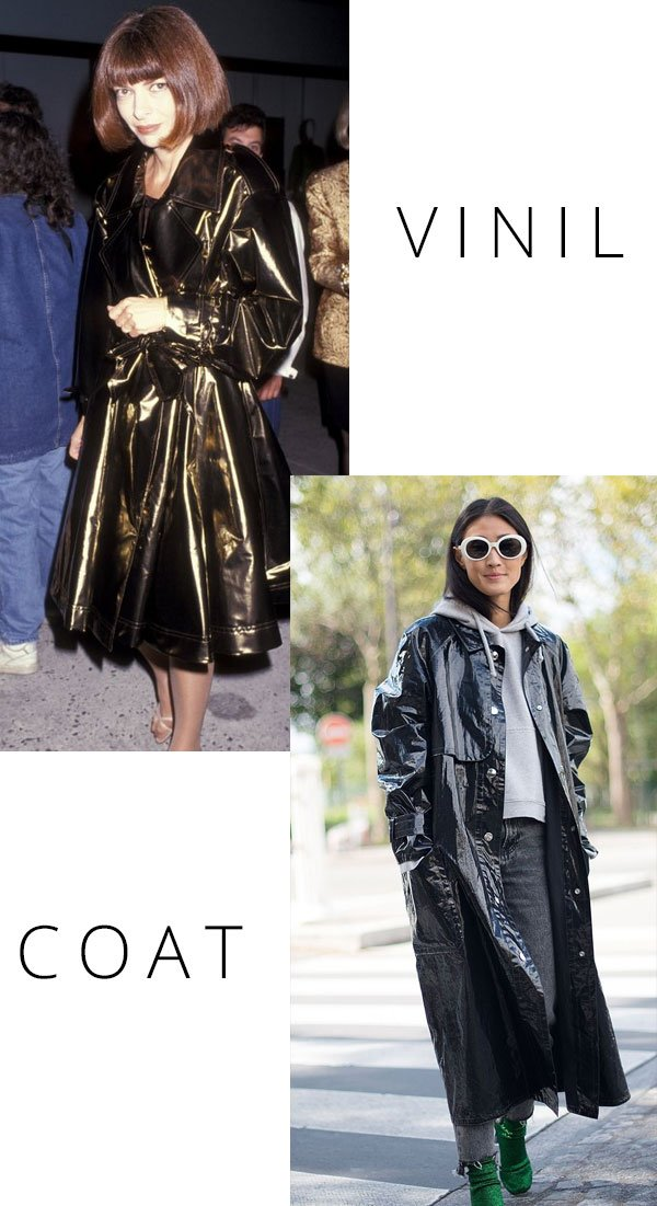 Anna Wintour - vinil-coat - casaco - inverno - street style