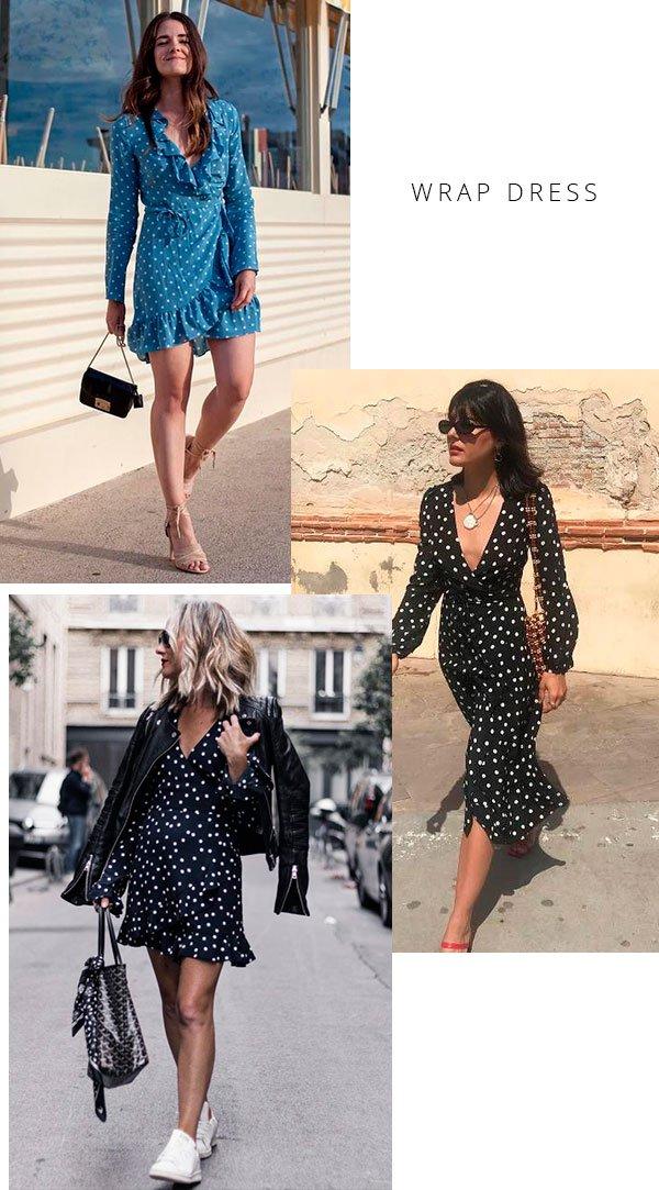 wrap dress - looks - moda - copiar - trend