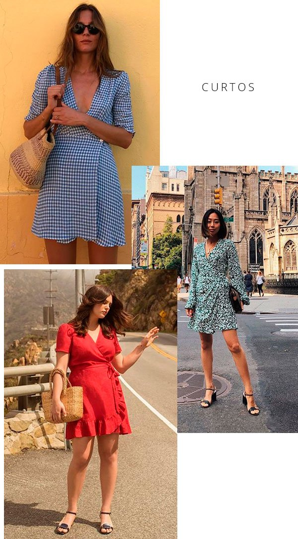 it-girl - wrap-dress-vestido-curto-street - wrap dress - verão - street style