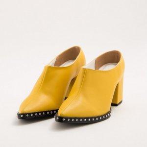 Mule Salto Tachas Amarelo Tamanho: 33 - Cor: Amarelo