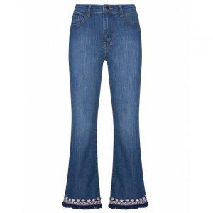 Calça Jeans Cropped Flare Búzios