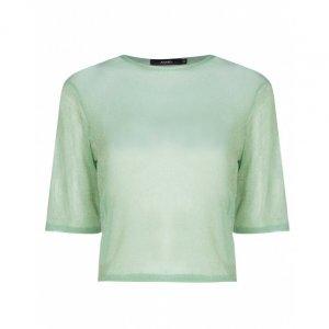 Camiseta De Tule Plissado Lurex