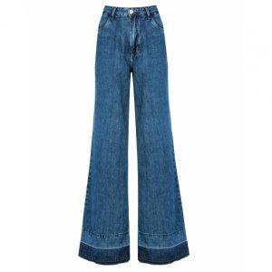 Calça Jeans Wide Barra Desfeita