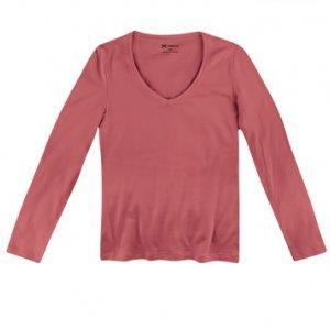 Blusa Feminina Básica Com Decote V Em Modelagem Slim
