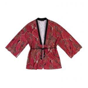 Kimono Estampado De Tecido Cetim De Viscose