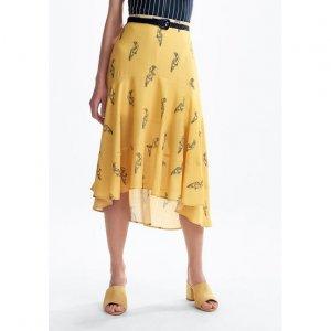 Midi Skirt Embossed Voile Viscose Fleece