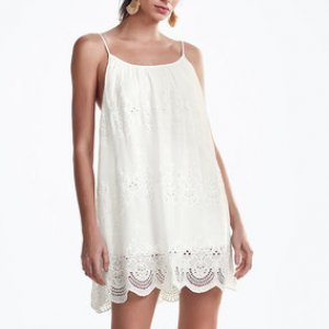 Chiffon Lace Embroidery Dress With Viscose With Strap