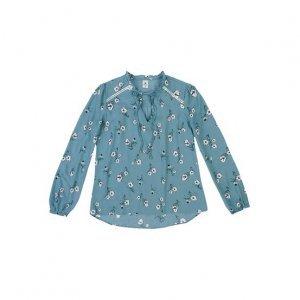 Camisa Feminina Em Tecido Maquinetado De Viscose Com Estampa