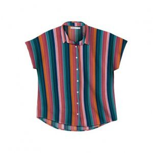 Camisa Feminina Estampada Com Mangas Curtas