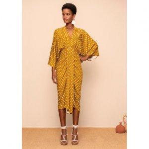 Printed Pooh Dress In Viscose Fabric