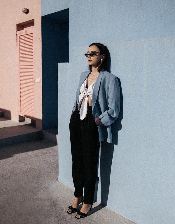 Beatrice Guto - blazer-calca-blusa-sapato - blazer - verão - street style
