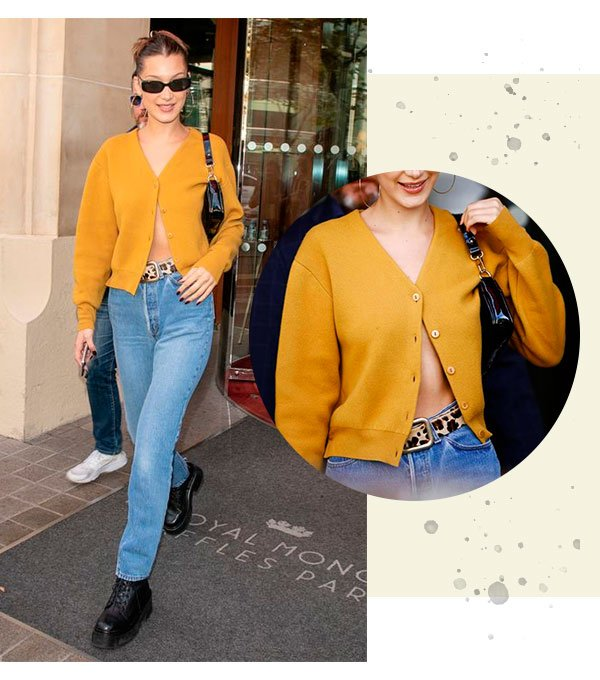 bella - hadid - cardigan - top - blusa