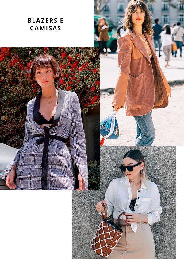 blazers - camisa - look - moda - comprar
