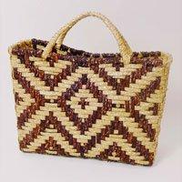 Multicolored Straw Handbag Multi Size: U - Color: Beige And Brown