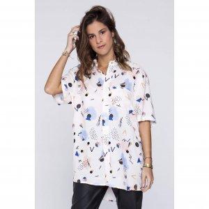 Camisa New Geometric Tamanho: P - Cor: Branco