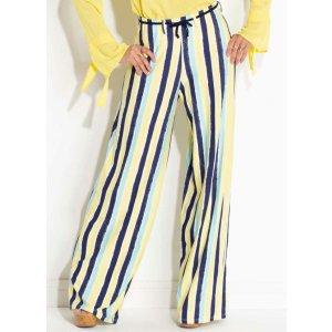 Calça Pantalona Quintess Listrada