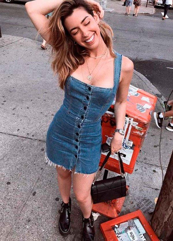 Camila Coutinho - vestido-jeans-street - vestido-jeans - verão - street style