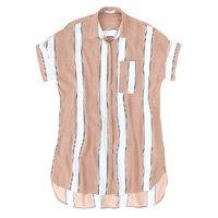 Crepe Woven Mullet Shirt