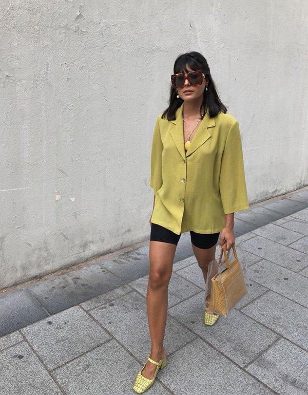 María Bernad - camisa-verde-vintage - vintage - verão - street style