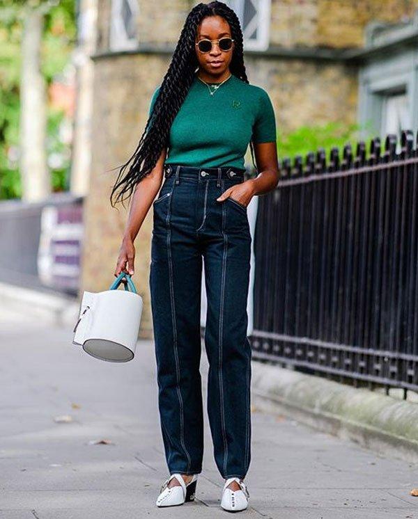 Chrissy Ford - t-shirt-verde-calca-jeans-look - calça jeans - verão - street style