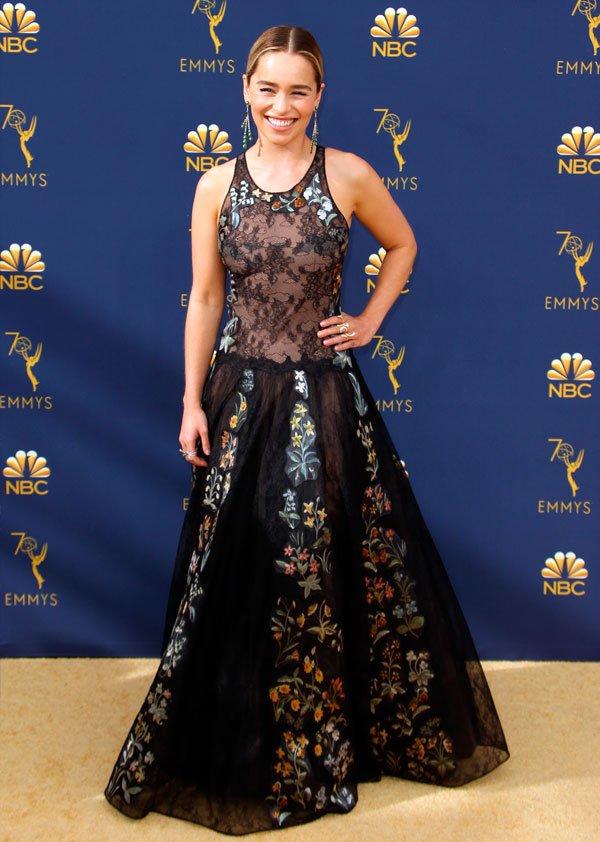 Emilia Clarke - emilia-clarke-emmy-awards - vestido - verão - Emmy Awards